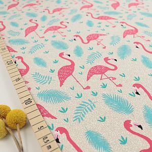 Bio Jersey Motiv Flamingos von Stoffonkel