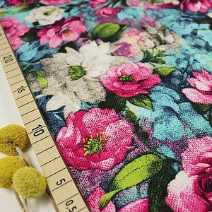 Bio Jersey Motiv Flower Garden von Stoffonkel