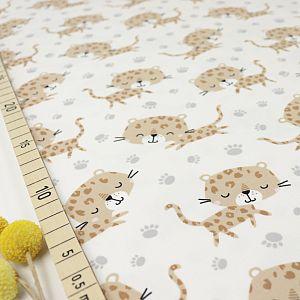 Bio Jersey Motiv Kimi der Baby Leopard von Stoffonkel