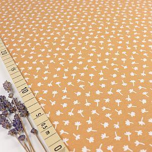 Bio Jersey Motiv Retro Mini Herbstgold von Stoffonkel