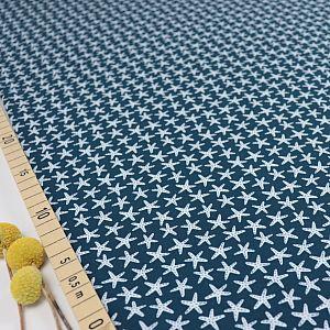 Bio Jersey Motiv Starfish blau von Stoffonkel