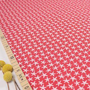 Bio Jersey Motiv Starfish rot von Stoffonkel