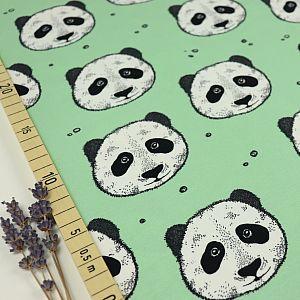Bio Jersey Peculiar Panda in pastellgrün von Bloome Copenhagen