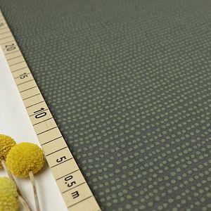 Bio Jersey Stoff Dotted Line khaki grün von Stoffonkel