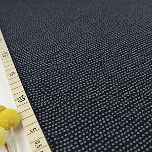 Bio Jersey Stoff Dotted Line schwarz von Stoffonkel