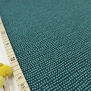 Bio Jersey Stoff Dotted Line smaragd grün von Stoffonkel