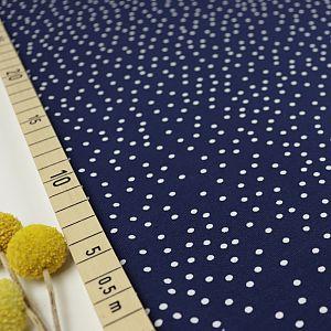 Bio Jersey Stoff Dotties marine blau von Stoffonkel