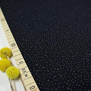 Bio Jersey Stoff Spotties schwarz von Stoffonkel