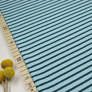 Bio Jersey Stoff Streifen hellblau dunkelblau Ringeljersey