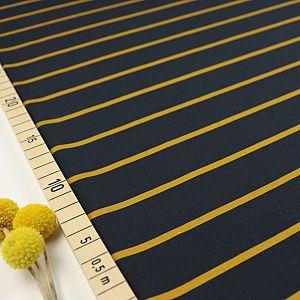 Bio Jersey Stoff Streifen navy ocker Streifenjersey
