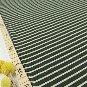 Bio Jersey Stoff Streifen olive Ringeljersey Stoffonkel