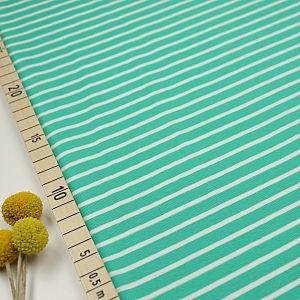 Bio Jersey Stoff Streifen smaragd grün Ringeljersey