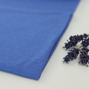 Bio Jersey Stoff uni blau meliert