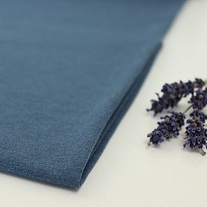 Bio Jersey Stoff uni indigo blau meliert