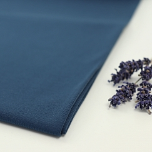 Bio Jersey Stoff uni indigo blau