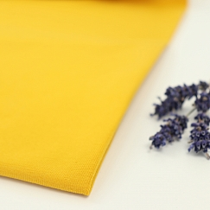 Bio Jersey Stoff uni senf gelb