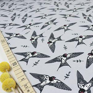 Bio Jersey Swallows in grau von Bloome Copenhagen