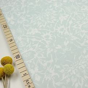 Bio Jersey Tintenklecks Blumen eisblau