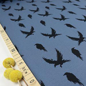 Bio Jersey Winter Crow in dusty blue von Bloome Copenhagen