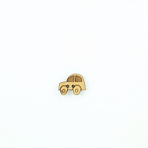 Bio Kinder Holzknopf kleines Auto 18mm