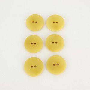 Bio Knöpfe Echt Steinnuss 20mm gelb pflanzengefärbt vegan im Set