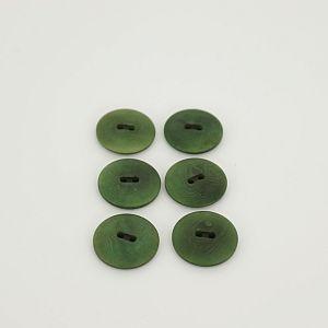 Bio Knöpfe Echt Steinnuss 20mm grün Olive satin matt im Set