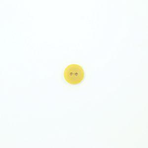 Bio Knopf Echt Steinnuss 15mm Färberwau gelb matt pflanzengefärbt vegan