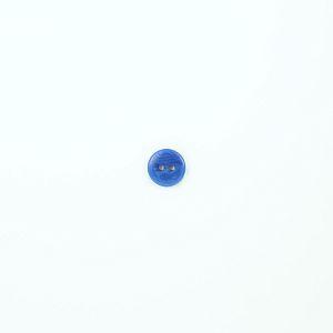 Bio Knopf Echt Steinnuss 15mm Victoria blau glänzend