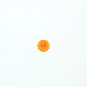 Bio Knopf Echt Steinnuss 15mm orange matt