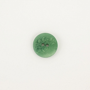 Bio Knopf Echt Steinnuss 20mm dunkelgrün matt