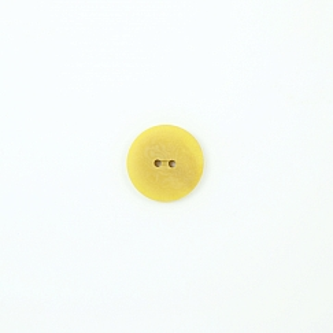 Bio Knopf Echt Steinnuss 25mm Färberwau gelb pflanzengefärbt vegan