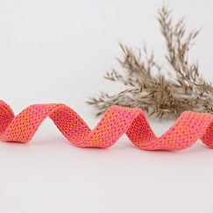 Bio Kordel Cord ME Papaya pink meliert 1,2cm Hamburger Liebe by Albstoffe