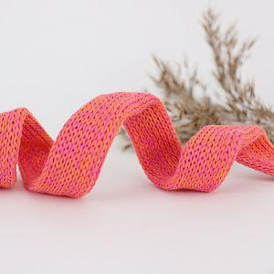 Bio Kordel Cord ME Papaya pink meliert 2cm Hamburger Liebe by Albstoffe