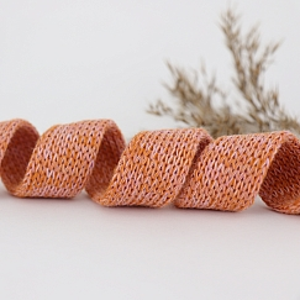 Bio Kordel Cord ME orange rose meliert 2cm Hamburger Liebe by Albstoffe