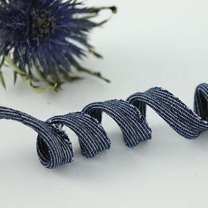 Bio Paspel  Jeansblau Marine aus 100% Bio-Baumwolle AMANDINE CHA