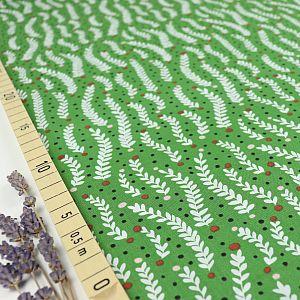 Bio Popeline Baumwollstoff Climbing Tendrils green aus der Serie Fanciful von Cloud9