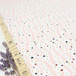 Bio Popeline Baumwollstoff Climbing Tendrils white aus der Serie Fanciful von Cloud9