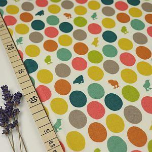 Bio Popeline Baumwollstoff Hatched weiß von Birch Fabrics