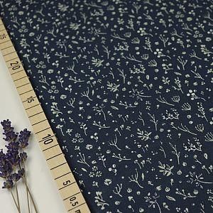 Bio Popeline Baumwollstoff Night Time dusk blau von Birch Fabrics
