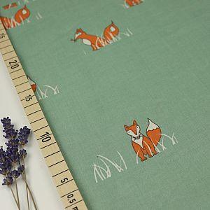 Bio Popeline Baumwolle Sly Fox petrol von Birch Fabrics