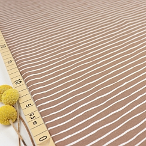 Bio Ringeljersey Stoff Good Vibes Stripes taupe von Stoffonkel