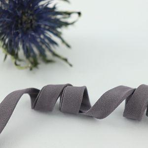 Bio Schrägband Grau aus 100% Bio-Baumwolle AMANDINE CHA