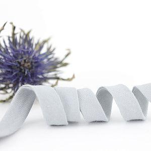 Bio Schrägband Wolkengrau aus 100% Bio-Baumwolle AMANDINE CHA