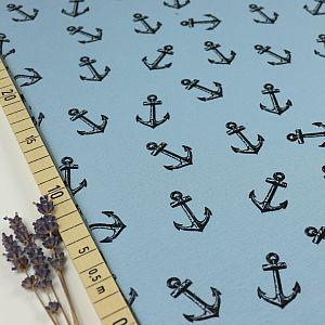 Bio Sommersweat Sinking Anchor in hellblau von Bloome Copenhagen