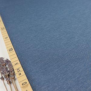 Bio Strickjacquard De-luxe in jeansoptik blau von Stoffonkel