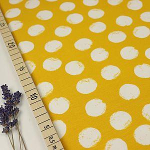 Bio Wintersweat Mellow Dots senf gelb von Stoffonkel