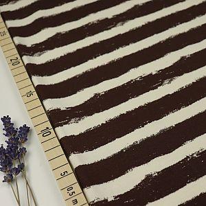 Bio Wintersweat Mellow Stripes schoko braun von Stoffonkel