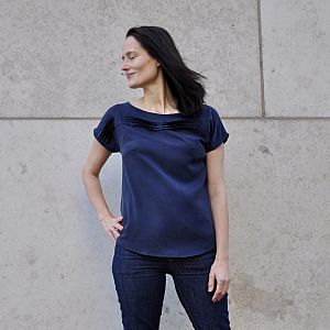 Tencel Twill Medium in Navy Blau von Meet Milk