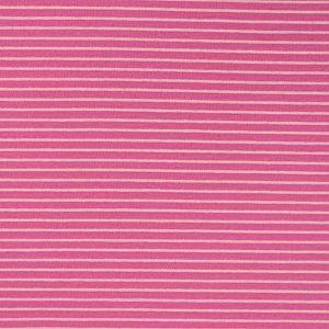 Bio Bündchen Stoff gestreift (Ringelbündchen) pink-pink Stoffonkel