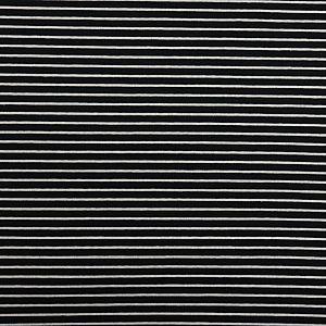 Bio Bündchen Stoff gestreift (Ringelbündchen) schwarz weiß Stoffonkel